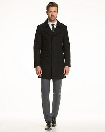 Wool Blend Melton Crombie Coat