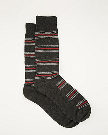Stripe Cotton Blend Sock