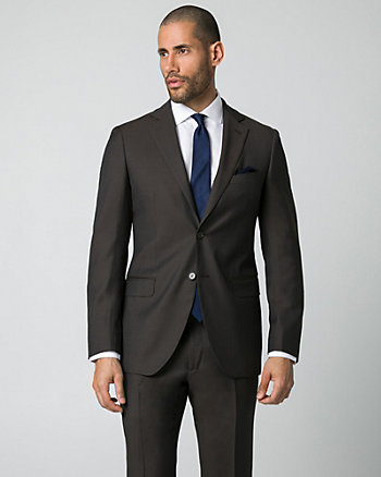 Italian-Made Wool Tailored Fit Blazer