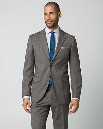 Tonal Wool Piqué Tailored Fit Blazer