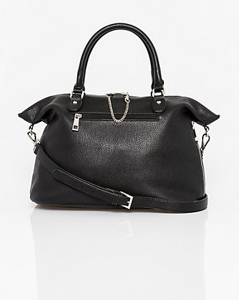 Leather-Like Tote & Crossbody Bag