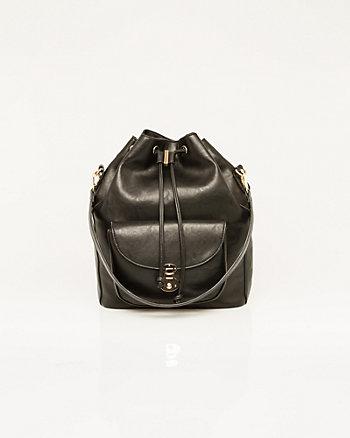 Leather-Like Bucket Bag