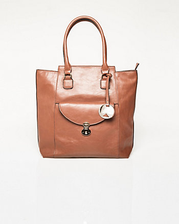 Leather-Like Tote Bag