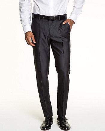 Tonal Herringbone Slim Leg Pant