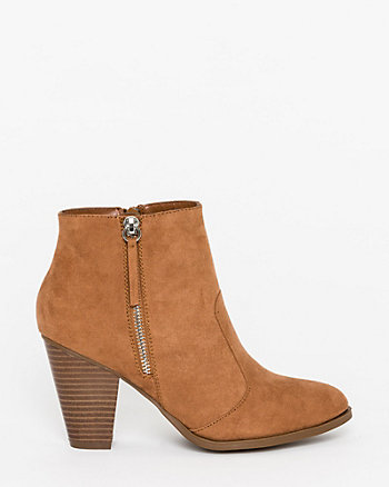 Microfibre Ankle Boot