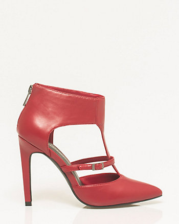 Leather-Like Pointy Toe Pump