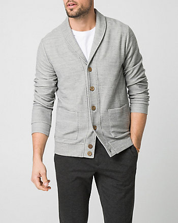 French Terry Shawl Collar Cardigan