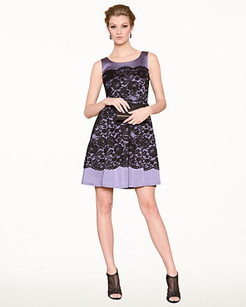 Lace & Satin Cocktail Dress