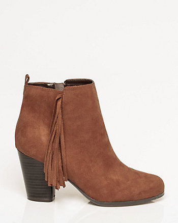 Microfibre Almond Toe Ankle Boot