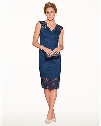 Lace V-Neck Cocktail Dress