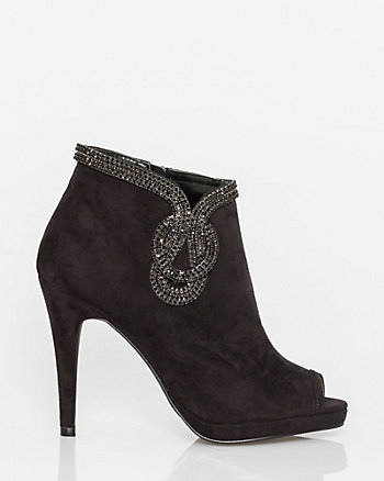 Jewel & Microfibre Ankle Boot