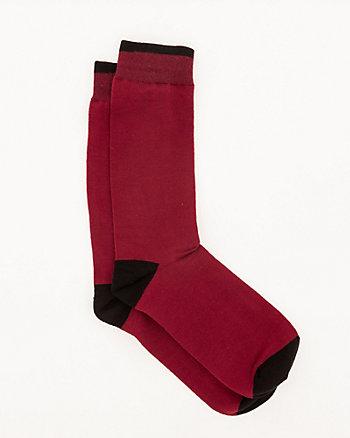 Colour Block Cotton Blend Socks
