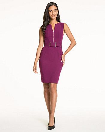 Double Weave V-Neck Dress