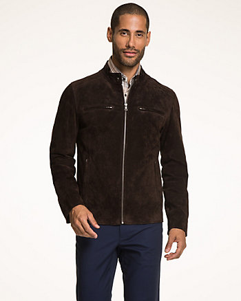 Suede Slim Fit Moto Jacket