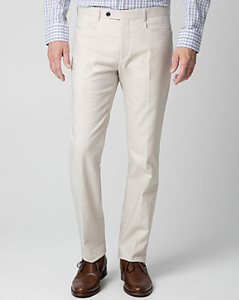 Two-Tone Twill Slim Leg Pant