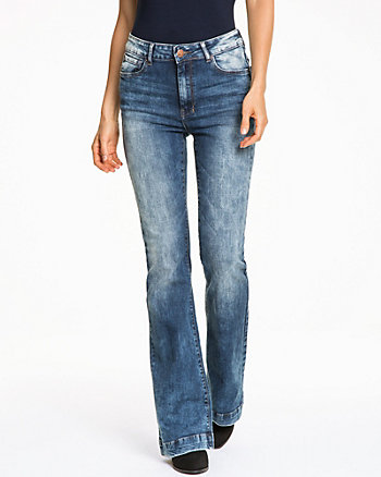 Stretch Denim Flare Leg Pant