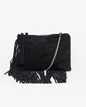 Suede Fringe Pouch