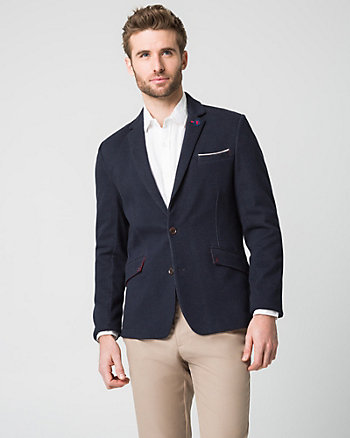 Cotton Blend Slim Fit Blazer