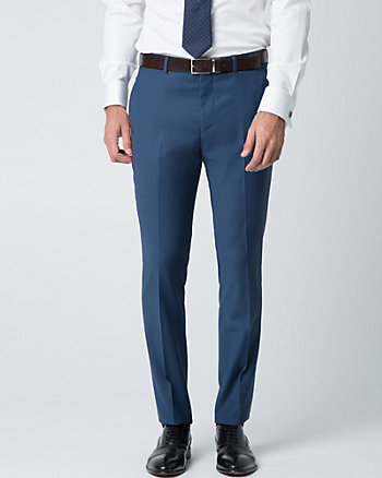 Tropical Wool Blend Slim Fit Pant