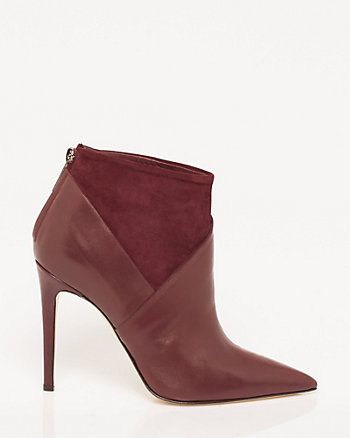 Italian-Made Leather & Suede Ankle Boot