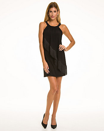 Knit Halter Neck Dress