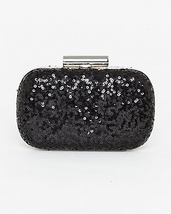 Chunky Sequin Clutch