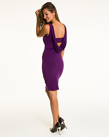 Knit Cowl Back Dress