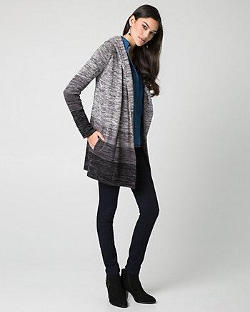 Mélange Cotton Sweater Coat
