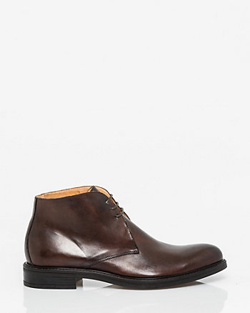 Italian-Made Leather Chukka Boot