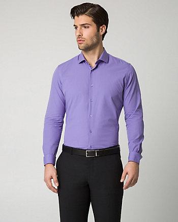 Textured Cotton Italian Collar Shirt