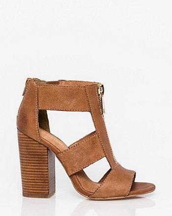 Leather Open Toe Gladiator Sandal