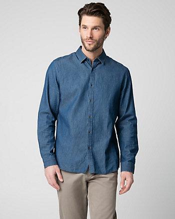 Cotton Denim Tailored Fit Shirt