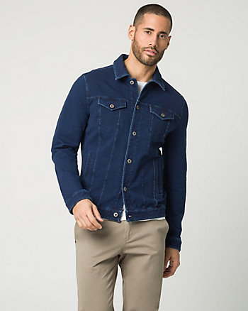 Denim Button-Front Jacket