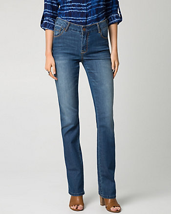 Stretch Denim Slight Flare Pant
