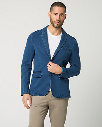 Cotton Knit Slim Fit Blazer