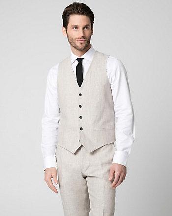 Linen Contemporary Fit Vest