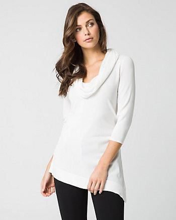 Viscose Blend Asymmetrical Sweater