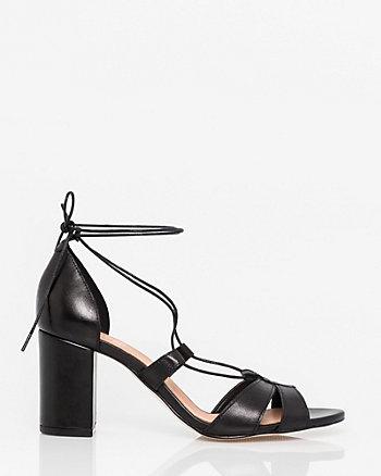 Leather Ghillie Tie Sandal