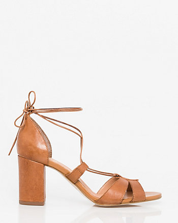 Leather Ghillie Tie Sandal