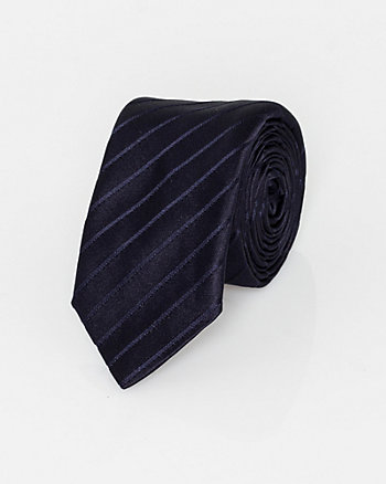 Italian-Made Tonal Stripe Silk Tie