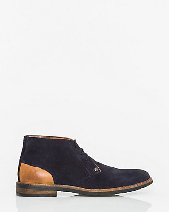 Suede & Leather Desert Boot