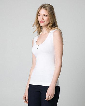 Viscose Blend Sweater Shell