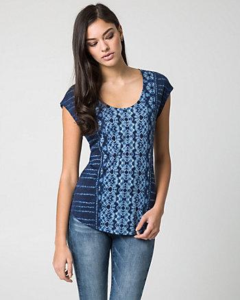 Batik Print Jersey Knit Top
