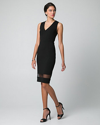 Knit Crêpe V-Neck Dress