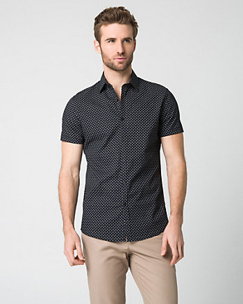 Anchor Print Cotton Tailored Fit Shirt