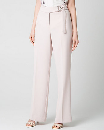 Crêpe High Waist Wide Leg Pant