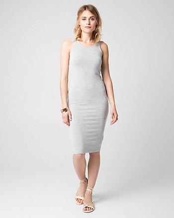Cut & Sew Knit Scoop Neck Dress