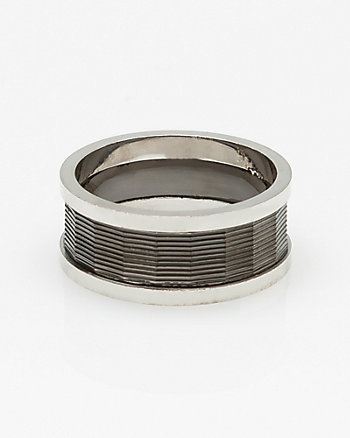 Silver Two Tone Ring