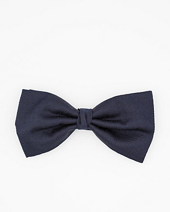 Italian-Made Dot Print Silk Bow Tie