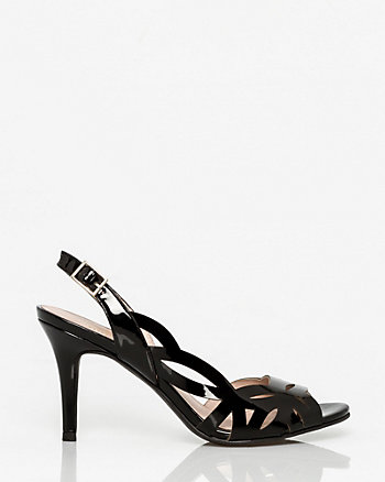 Patent Leather Half d'Orsay Slingback